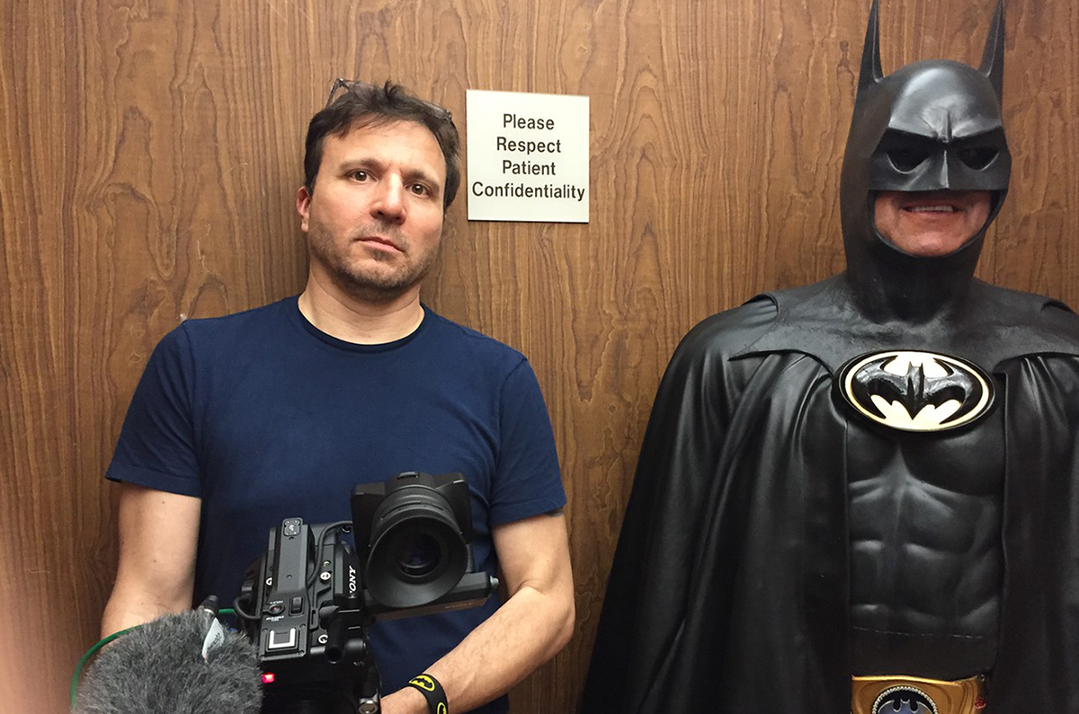 Christoph on set, shooting, Hope For Henry spot, with Batman